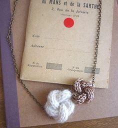 hogenbirk knitwear: hand knitted jewelry