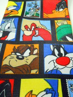 Looney Tunes Tie Stamp Collection 1997 Sylvester Tweety Taz Bugs Roadrunner + #WarnerBrothers #NeckTie
