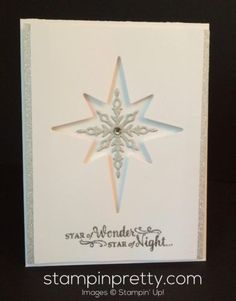It's not too early to share a Christmas card, is it? Here's a sneak peek of the Star of Light stamp set and coordinating Starlight Thinlits Dies available in the Stampin' Up! Holiday Catalog. The holi