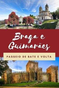 Learn how to plan a day trip from Porto to Braga and Guimaraes. It includes a list of the best monuments (such as the cathedral of Braga or Bom Jesus sanctuary), best restaurants and best hotels. Marrakesh, Eurotrip, Casablanca, Travel Guides, Travel Tips, Travelling Tips, Day Trips From Porto, Portugal Travel Guide, Portugal Trip