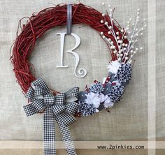 Alabama Wreath University of Alabama Vine Wreath. You could use this even during Christmas!