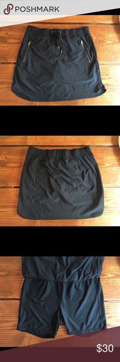 Athleta Black Stretchy Skort / Skirt / Short Small Excellent condition. This has been hanging out in my closet forever. I don't think I even wore it. Athleta Shorts Skorts