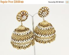Indian Earrings See More On Stunning Lightweight Kundan Diamante Stone By Glimour