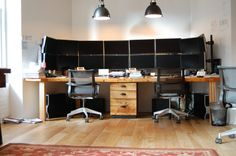 Trading Desk Reclaimed Wood Double Desk by GreenFurnitureDesign, $4190.00