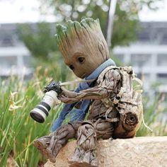 Baby Groot has hobbies too 😂 Photo by Marvel Art, Marvel Movies, Marvel Avengers, Baby Groot, Tableau Pop Art, I Am Groot, Avengers Wallpaper, Disney Tattoos, Cute Cartoon Wallpapers