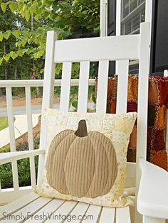How to Make a Pumpkin Patchwork Pillow at Simply Fresh Vintage