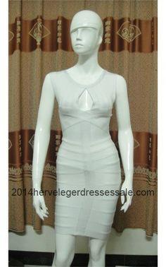 Discount Herve Leger White Keyhole Bust Bandage Dresses 2014 2  .2014hervelegerdressessale.com 3c3e30763