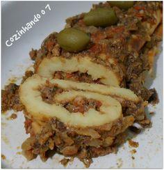 Cozinhando o 7: Rocambole de Batata com Sardinha