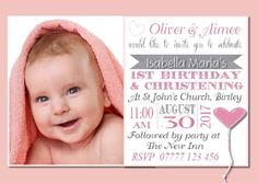 Personalised First Birthday Invitations Uk
