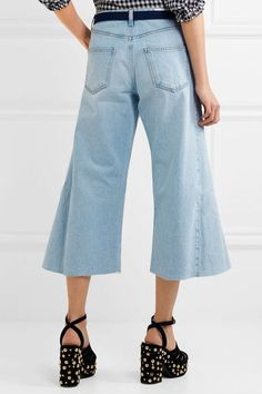 Sonia Rykiel - Belted Cropped Wide-leg Jeans - Blue - FR42