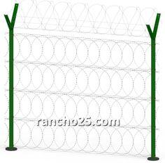 perimeter razor wire fence www.rancho25.com