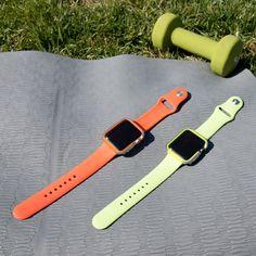 Neon Sport Colors for Apple Watch Apple Watch Nike, Apple Watch Iphone, Apple Watch Accessories, Tech Accessories, Apple Band, Iphone Stand, Apple Watch Faces, Apple Watch Bands 42mm, Apple Watch Series 2