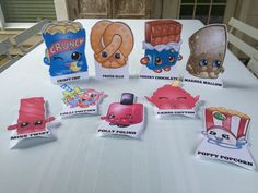 Shopkins Party Decorations! Pin now save for later!   https://www.etsy.com/listing/268895510/shopkins-party-bags-shopkins-goody-bags?ref=shop_home_active_1