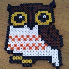 Owl hama beads by thegogoddess