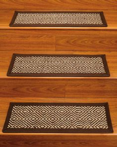 Natural Area Rugs Brio Brown White Carpet Stair Tread Set Of