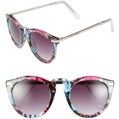 Women's Steve Madden 50mm Retro Sunglasses - Black Multi