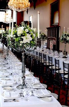 Lawless Flowers based in Limerick is the West of Ireland's leading florist and their heritage sp. Adare Manor, Flower Centerpieces, Wedding Bouquets, Wedding Reception, Table Settings, Table Decorations, Flowers, Home Decor, Marriage Reception