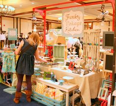 I want my booth to be fun and bright like this one!