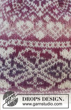 """Montreal - Knitted DROPS hat with pattern in """"Delight"""" and """"Fabel"""". - Free pattern by DROPS Design Fair Isle Knitting Patterns, Sweater Knitting Patterns, Knitting Charts, Knitting Stitches, Free Knitting, Motif Fair Isle, Fair Isle Pattern, Drops Design, Tejido Fair Isle"""