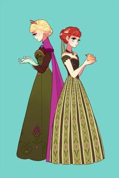 Elsa and Anna #disney #frozen #fanart