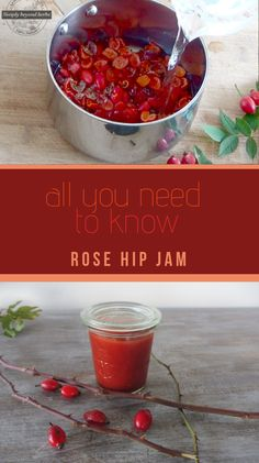 The rose hips jam is packed with vitamins and thanks to their delicious taste and color it can turn ordinary dish into culinary delicacy. Rose hips jam has various uses and is made of three ingredients only. How can I drop 20 pounds fast? Herb Recipes, Jam Recipes, Canning Recipes, Whole Food Recipes, Healthy Recipes For Weight Loss, Healthy Crockpot Recipes, Delicious Recipes, Stevia, Coliflower Recipes
