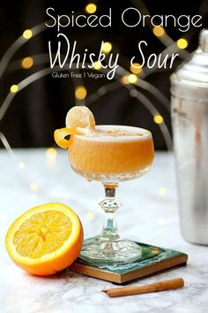 Spiced Orange Whisky Sour | Domestic Dreamboat