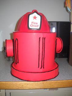 Fire hydrant Valentine Box