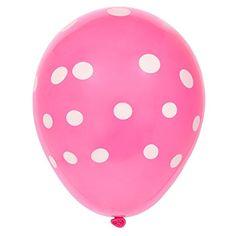 WHITE PLAIN Polka Dot Mix Balloons Anniversary wedding BALOON Celebrations RED