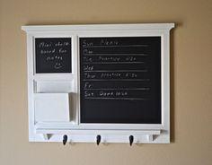 Chalkboard and Mini Chalkboard Mail Organizer letter holder