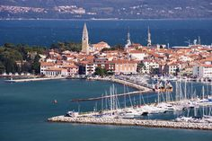 Port City, Koper~ Koper is the largest city on the Slovenia coast and there are several attractions, many restaurants, a small beach, and a recreational center. Koper Slovenia, Oh The Places You'll Go, Places To Visit, Slovenia Travel, Travel 2017, Cruise Destinations, Celebrity Cruises, Belle Villa, European Destination