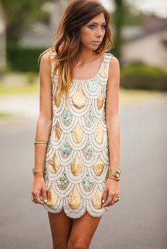 GOLD SCALLOPED DRESS on The Hunt