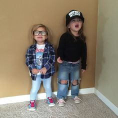 Parenting done right. Halloween. Wayne's world. Funny toddler Halloween costumes. Toddler fun.
