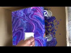 Fluid Pour - How to create Cells & Ribboning - Only Acrylic and Water - ...