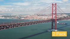 Lisbon 25th of April Bridge (2-Pack) by GoodMan_Ekim Portugal. Lisbon. 25th of April Bridge. Car traffic. 2 Pack: 1. Timelapse 2. Real time