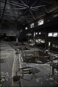 Abandoned factory looks like something from the Death Star