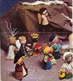 breien haken kerststal kerstmis figuren