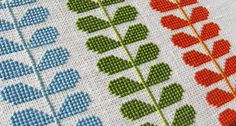 Cross-Stitched Orla Kiely (Buy/Sold out). HOwever, this is a great concept and I love the idea of repeated vines/leaves! Must be a freebie somewhere (or easy to count the stitches as close up)! thanks so for inspiration though xox