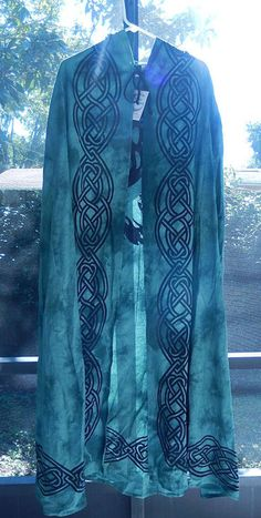 Tree of Life Cloak | Green World Tree with Moon Ritual Robe | Wiccan Pagan Cape Cloak