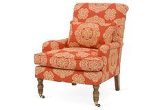 Abigail Accent Chair, Mandarin Medallion