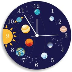 The Solar System Boys Wall Clock, Boys Bedroom Wall Clock, Nursery Room Decor Kid O http://www.amazon.com/dp/B00I4WMTZU/ref=cm_sw_r_pi_dp_bw2Jwb0PBGMQA