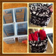Put your not-so-attractive cutlery holder in a super cute LITTLES CARRY ALL CADDY to make a nice presentation on the table