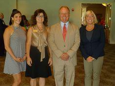 Congressman David Joyce with President Jennifer Natale and Abby Schroll, Twinsburg and Laura Holman, Aurora Chamber EDs.
