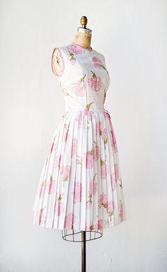 vintage 1960s dress | Pink Carnations Dress