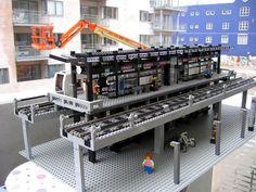 Elevated Train Station by esbenkolind  on BrickShelf