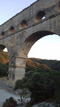 Pont du Gard em Vers-Pont-du-Gard, Languedoc-Roussillon