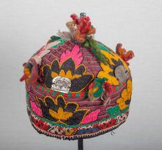 Vintage Central Asian UZBEK TRIBAL HAT,cap, shappo, mutzen,  ships free with ups