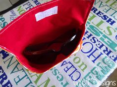 Create a cute sunglasses case to protect your glasses from scratches