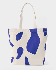 Baggu Canvas Shopper bag in natural cutout pattern