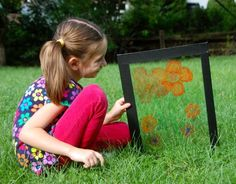Posing with Plexiglass.  Dry erase markers and a great imagination.  This is so cool!