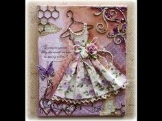 Vintage Dress Mixed Media Canvas Tutorial - YouTube